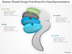 Busines Diagram Human Thumb Design Text Boxes For Data Representation Ppt Template