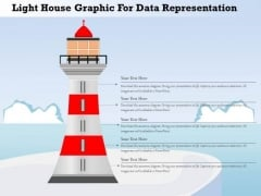 Busines Diagram Light House Graphic For Data Representation Presentation Template