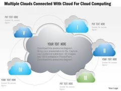 Busines Diagram Multiple Clouds Connected With Cloud For Cloud Computing Ppt Template