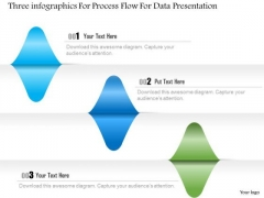 Busines Diagram Three Infographics For Process Flow For Data Presentation Template