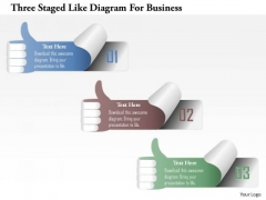 Busines Diagram Three Staged Like Diagram For Business Presentation Template