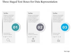 Busines Diagram Three Staged Text Boxes For Data Representation Presentation Template