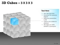 Business 3d Cube 3x3x3 PowerPoint Slides And Ppt Diagram Templates