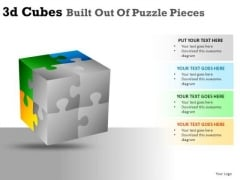 Business 3d Cube Puzzle Pieces PowerPoint Slides And Ppt Diagram Templates