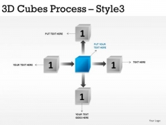 Business 3d Cubes Process 3 PowerPoint Slides And Ppt Diagram Templates
