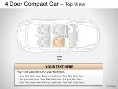 Business 4 Door Red Car Top View PowerPoint Slides And Ppt Diagrams Templates
