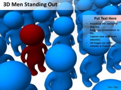 Business Activity Diagram 3d Men Standing Out PowerPoint Slides