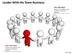 Business Activity Diagram Leader With His Team PowerPoint Slides