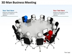 Business Analysis Diagrams 3d Men PowerPoint Presentations Meeting Slides