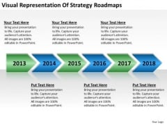 Business Analysis Diagrams Visual Representation Of Strategy Roadmaps PowerPoint Templates