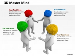 Business Analyst Diagrams 3d Man Human Mind PowerPoint Templates