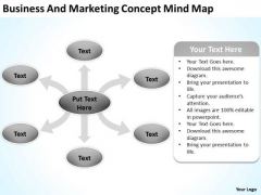 Business And Marketing Concept Mind Map Plan Tools PowerPoint Templates