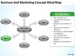 Business And Marketing Concept Mind Map Ppt Plan PowerPoint Slides