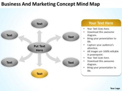 Business And Marketing Concept Mind Map Ppt Plans Templates PowerPoint