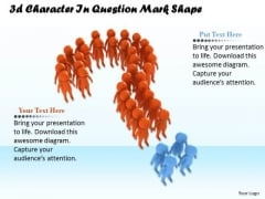 Business And Strategy 3d Character Question Mark Shape Concepts
