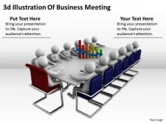 Business And Strategy 3d Illustration Of Meeting Basic Concepts