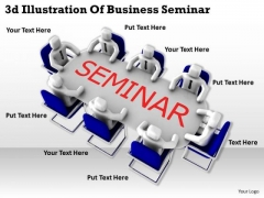Business And Strategy 3d Illustration Of Seminar Basic Concepts