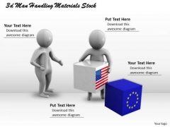 Business And Strategy 3d Men Handling Materials Stock Concept Statement