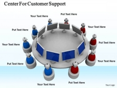 Business And Strategy Center For Customer Support Icons Images