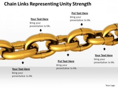Business And Strategy Chain Links Representing Unity Strength Icons Images