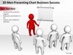 Business Architecture Diagram 3d Men Presenting Chart Success PowerPoint Templates