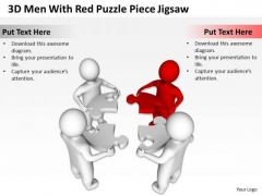 Business Architecture Diagram Puzzle Piece Jigsaw PowerPoint Templates Ppt Backgrounds For Slides