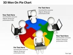 Business Architecture Diagrams 3d Men On Pie Chart PowerPoint Slides