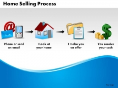 Business Arrows PowerPoint Templates Business Home Selling Process Ppt Slides