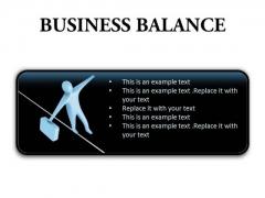 Business Balance Success PowerPoint Presentation Slides R