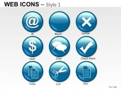 Business Button Web Icons PowerPoint Slides And Ppt Diagram Templates