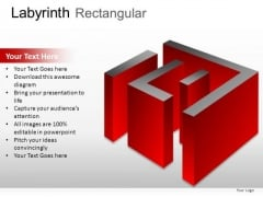 Business Challenges Labyrinth Rectangular PowerPoint Slides And Ppt Diagram Templates