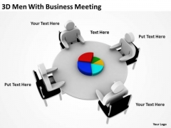 Business Charts 3d Men With PowerPoint Theme Meeting Templates