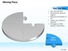 Business Charts PowerPoint Templates 3d Circle Problem Solving Puzzle Piece Showing Missing Diagram