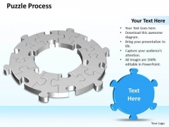 Business Charts PowerPoint Templates 3d Circular Flow Puzzle Piece Process Diagram 12 Stages