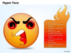 Business Charts PowerPoint Templates 3d Emoticon Showing Hyper Face Sales