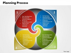 Business Charts PowerPoint Templates 4 Steps Planning Circular Direction Diagram Sales