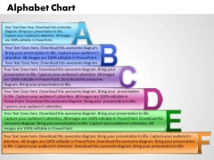 Business Charts PowerPoint Templates Alpahabet With Textboxes