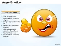 Business Charts PowerPoint Templates Angry Emoticon Pointing Accusing Finger Sales