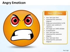 Business Charts PowerPoint Templates Design Of An Emoticon Showing Angry Face Sales