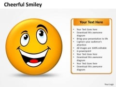 Business Charts PowerPoint Templates Design Of Cheerful Smiley Sales