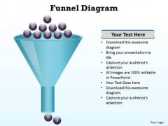 Business Charts PowerPoint Templates Funnel Diagram Editable Sales