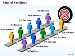 Business Charts PowerPoint Templates Parallel Key Steps Plan