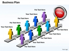 Business Charts PowerPoint Templates Parallel Steps To Plan