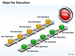 Business Charts PowerPoint Templates Parallelized Steps For Execution Of Plan