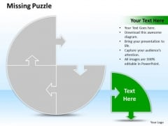 Business Charts PowerPoint Templates Process Missing Puzzle Piece 4 Stages
