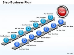 Business Charts PowerPoint Templates Seven Step Plan