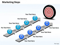Business Charts PowerPoint Templates Step By Marketing Plan Sales And Slides