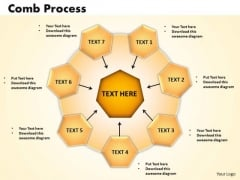 Business Circle Charts PowerPoint Templates Business Comb Process Ppt Slides