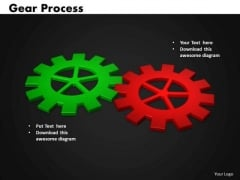 Business Circle Charts PowerPoint Templates Business Gears Process Ppt Slides