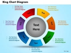 Business Circle Charts PowerPoint Templates Diagram Ring Chart Ppt Slides